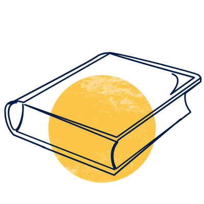 Illustration of a closed book